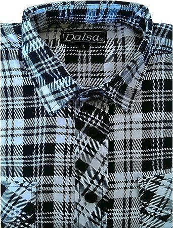 Dalsa – Camiseta de leñador para trabajar, franela a cuadros, manga larga, algodón cepillado: Amazon.es: Ropa y accesorios