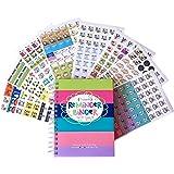 2017-2018 Reminder Binder Planner + Bonus Set of 432 Planner Stickers Gift Set (Planner + Busy Mom Stickers)