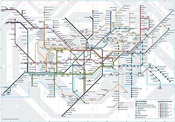 Subway Map Of London Underground.3 X Official London Underground Tube Train Pocket Map By Tfl London Subway Metro Pocket Map Amazon Co Uk Office Products