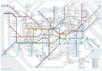 3 X Official London Underground Tube Train Pocket Map By Tfl London