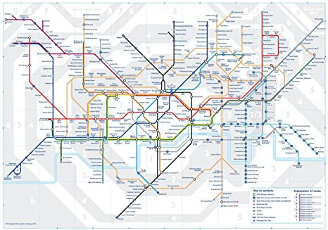 Map Of London With Underground.3 X Official London Underground Tube Train Pocket Map By Tfl London Subway Metro Pocket Map