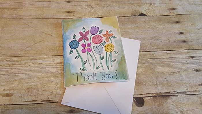 Amazon thank you greeting card any occasion card paper thank you greeting card any occasion card paper cardstock greeting card blank hand m4hsunfo