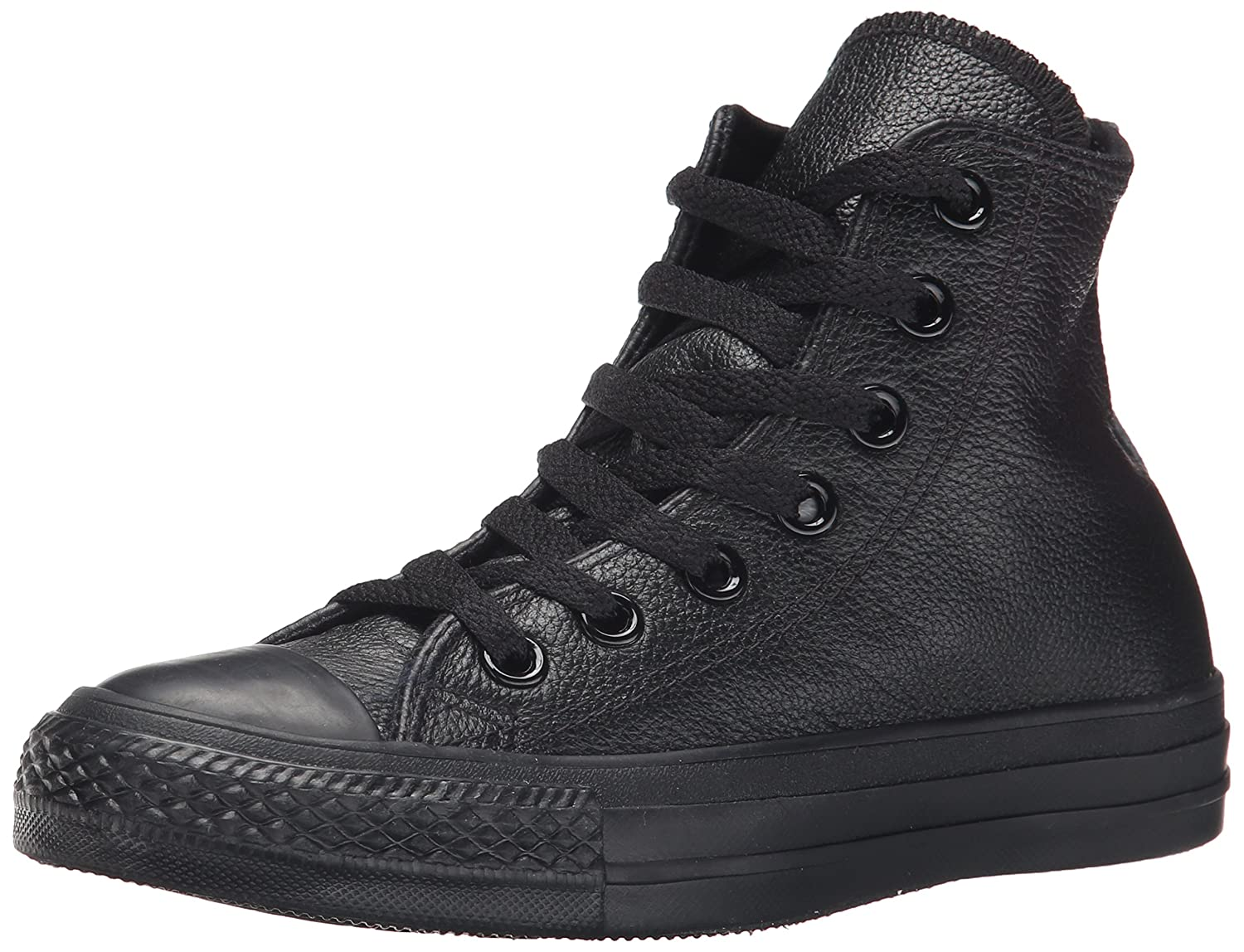 Converse Chuck Taylor All Star Leather High Top Sneaker B0007LIA04 3.5 M US Men / 5.5 M US Women|Black Leather