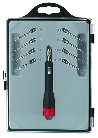 USAG U03410015 - Destornillador de precisión con 8 hojas ...