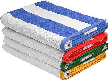 4-Pks.Utopia Premium Quality Cabana Beach Towels
