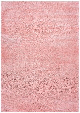 Amazon Com Soft Plush Nursery Solid Baby Pink Kids Shag Area Rugs