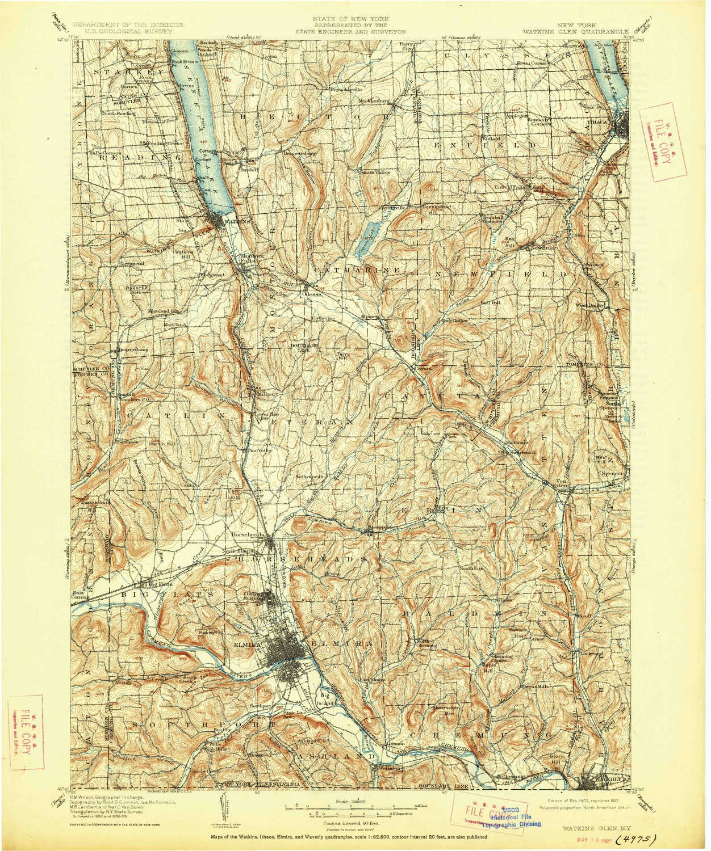 Amazon Com Yellowmaps Watkins Glen Ny Topo Map 1 125000 Scale 30