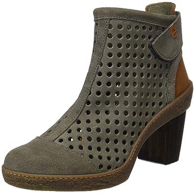 El Naturalista S.A Nf77 Lux Suede Pleasant Lichen, Women's Ankle Boots, (Wood/Vaquero)
