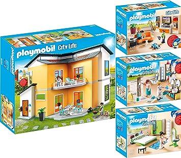 Playmobil City Life Set en 4 Parties 9266 9267 9268 9271 ...