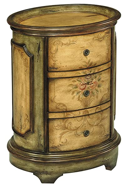 Stein World Furniture Dover Accent Table, Antique Green, Brown