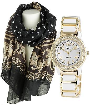 c73782c5ec7 Montre Tendance pour Femme en coffret cadeau avec écharpe