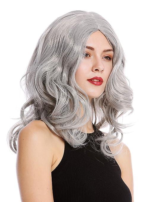 WIG ME UP ® - 90831-ZA68E Parrucca Donna Carnevale Lunga Ondulata Riga in  Mezzo ac308a1d34c8