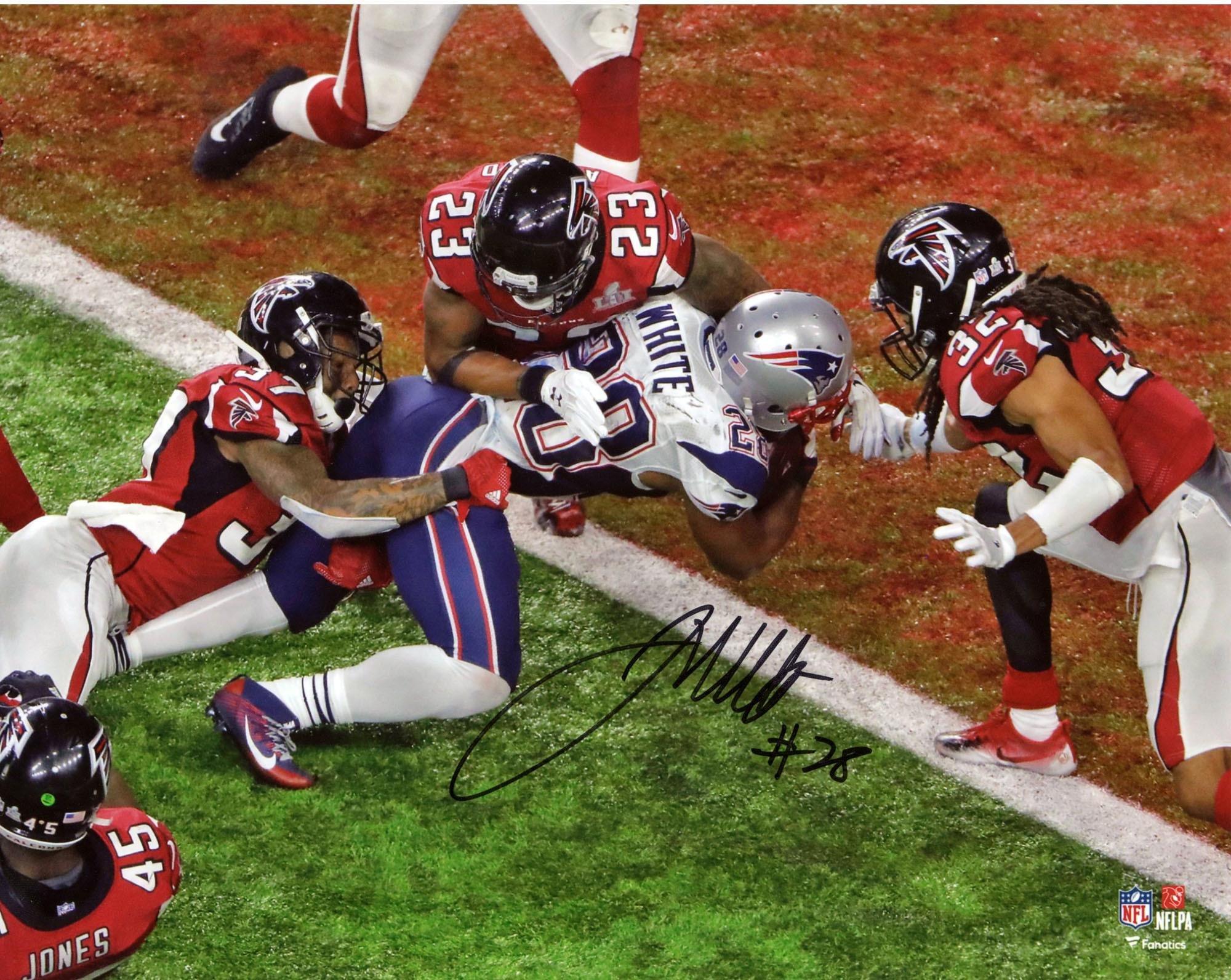 "James White New England Patriots Autographed 8"" x 10"" Super Bowl LI Champions Game Winning Touchdown Photograph Fanatics Authentic Certified"