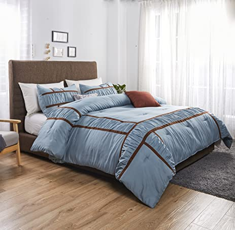 Felicite Home 3 Piece Oversized Duvet Cover Set ,Egyptian Quality Luxury  Super Soft WRINKLE FREE