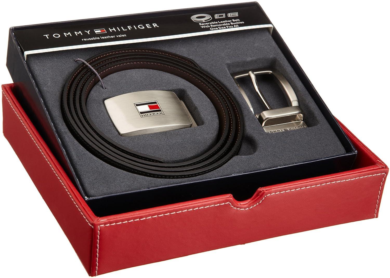Reversible Leather Belt for Men With 2 Adjustable Buckles Tommy Hilfiger Belt Gift Set