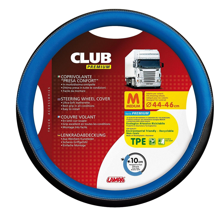 Modelo Club Pr/émium de la Marca Lampa Funda para Volante de cami/ón di/ámetro de 44-46 cm de Color Azul y Negro