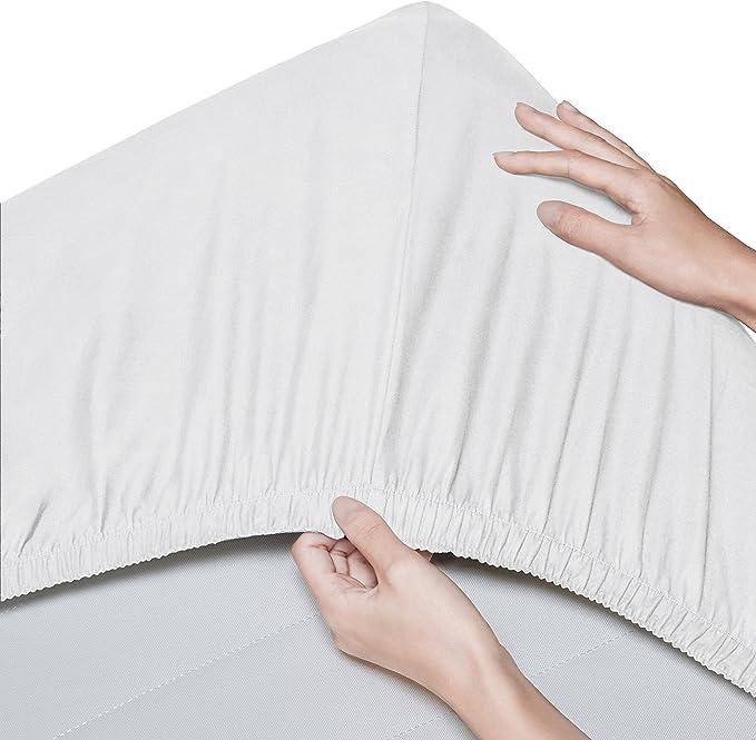Pinzon - Sábana bajera de algodón orgánico de 300 hilos (pack de 2 ...