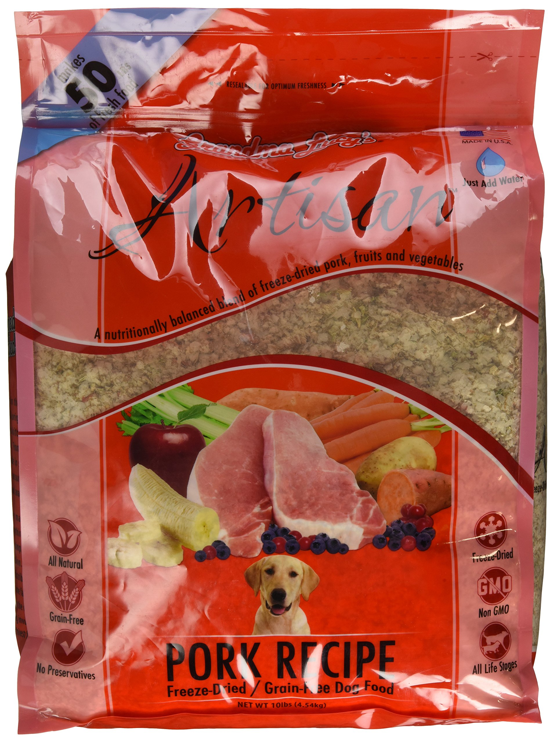 Grandma Lucy's Freeze-Dried Grain-Free Pet Food: Artisan Pork 10lbs