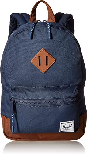 Herschel Kids Heritage Backpack, Navy'saddle Brown, Youth 16L