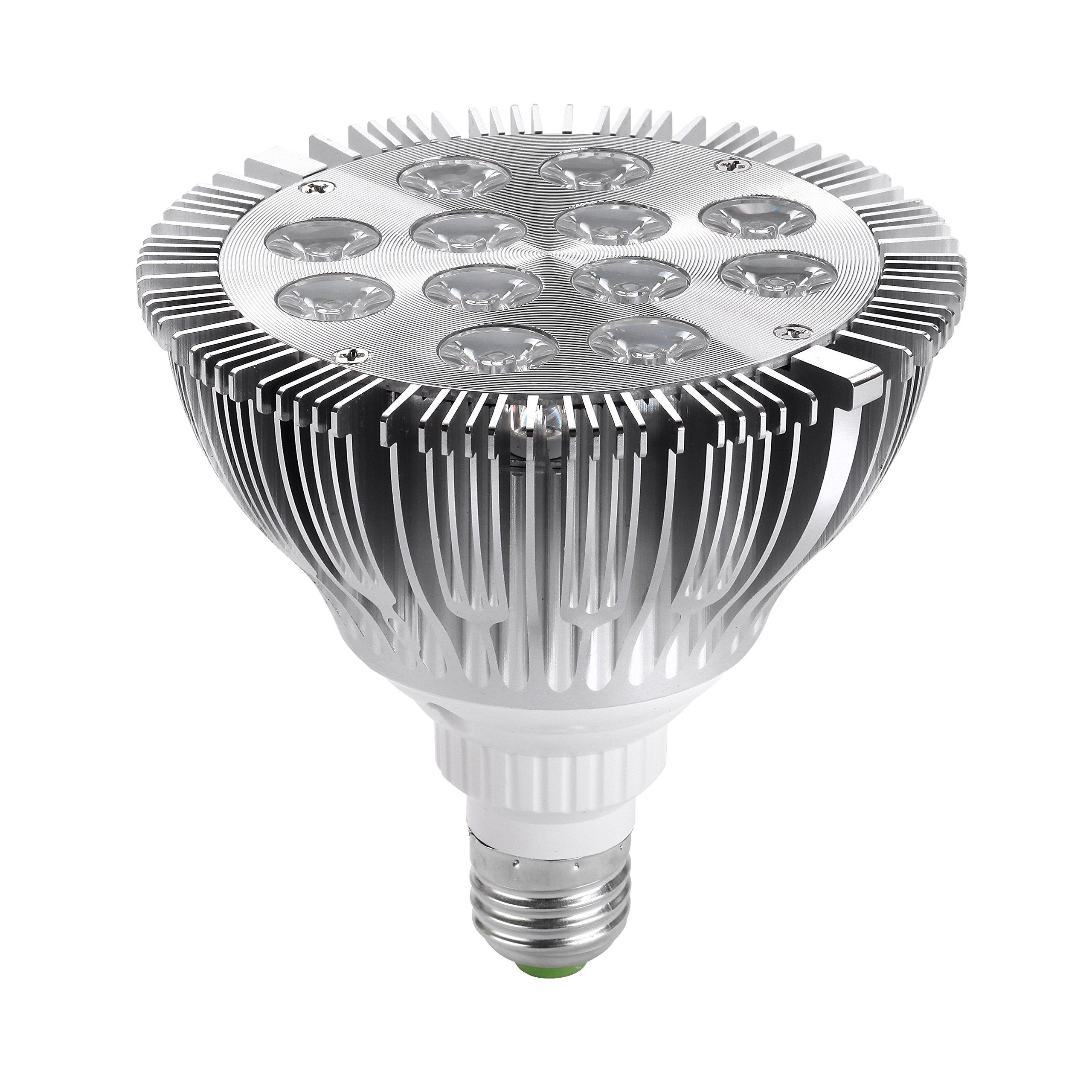 Jinda® PAR 38 Aluminum 12W E27 LED Cold White Spot Light Bulb High Power Lamp 30 Degree Beam Angle Electricity-saving Lamp (85~265V Ac) (12 Watts)