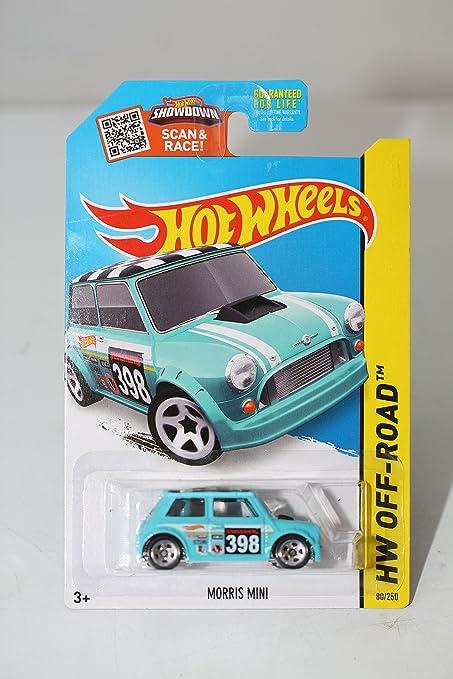 Amazoncom Hot Wheels 2015 Hw Off Road Morris Mini Aqua Blue