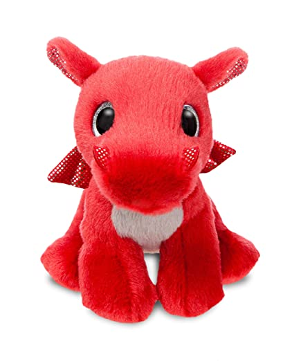 Aurora World 60862 Sparkle Tales Flame Dragon Peluche, Rouge, ...