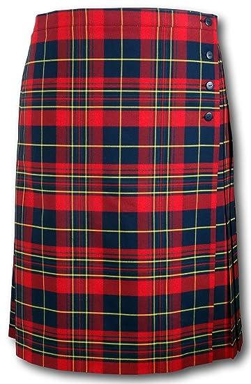 781da4dbc0 Albert Prendergast Red Tartan Wrap Around Kilt Skirt: Amazon.co.uk: Clothing
