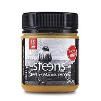 Steens Roher Manuka-Honig MGO 514 (UMF15) 340 G   Purer Roher, Kalt Verarbeiteter, Nicht Pasteurisierter Honig Aus NZ   Natürliche Heileigenschaften Bei Halsschmerzen Und Zum Aufbau Des Immunsystems