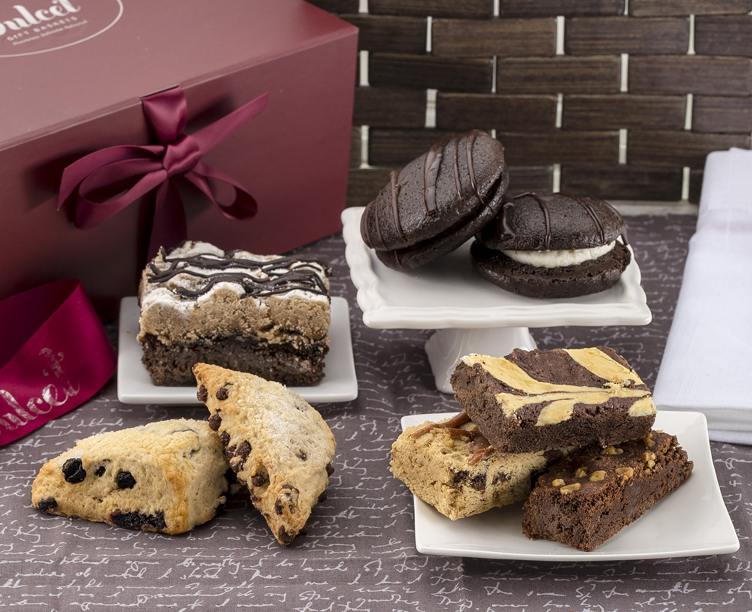 Gourmet Pastry Gift Basket of Foods-Includes Whoopee Pies,Scones, Crumb Cakes, Blondie, Walnut Brownie, Chocolate Cheese Brownie. by Dulcet Gift Baskets