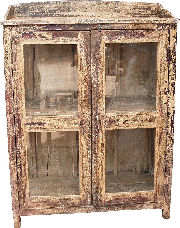Antiker Glastürschrank (JH1-33) / Vitrinen & Glasschränke