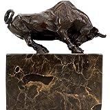 Kunst & Ambiente - Stierfigur aus Bronze - signiert Antoine-Louis Barye - Bulle/Stier / Taurus/Börsenbulle - Tierskulpturen - Stierfigur - Tierfiguren online kaufen