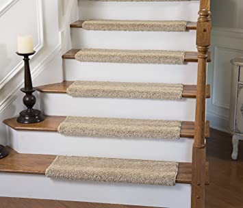 Awesome Caprice Bullnose Carpet Stair Tread With Adhesive Padding, By Tread Comfort  (Single 31u0026quot;
