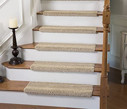 Tread Comfort Caprice Bullnose Carpet Stair Tread With Adhesive Padding, By  (Single 27u0026quot;