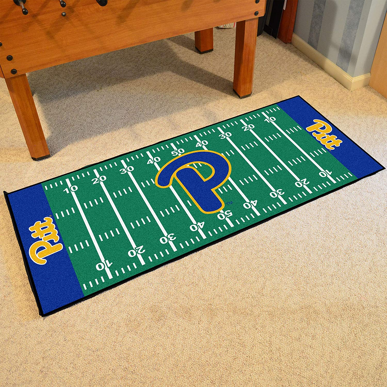 FANMATS NCAA University of Pittsburgh Panthers Nylon Face Football Field Runner
