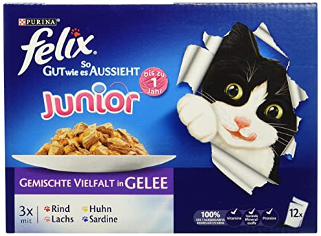 Felix Pienso húmedo para Gatos So gut wie es aussieht, Pack de 6 Unidades (
