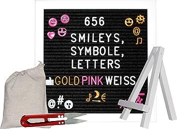 Special Edition U2013 Letter Board Weiss XXL Set Mit 680 Smileys Zahlen  Buchstaben