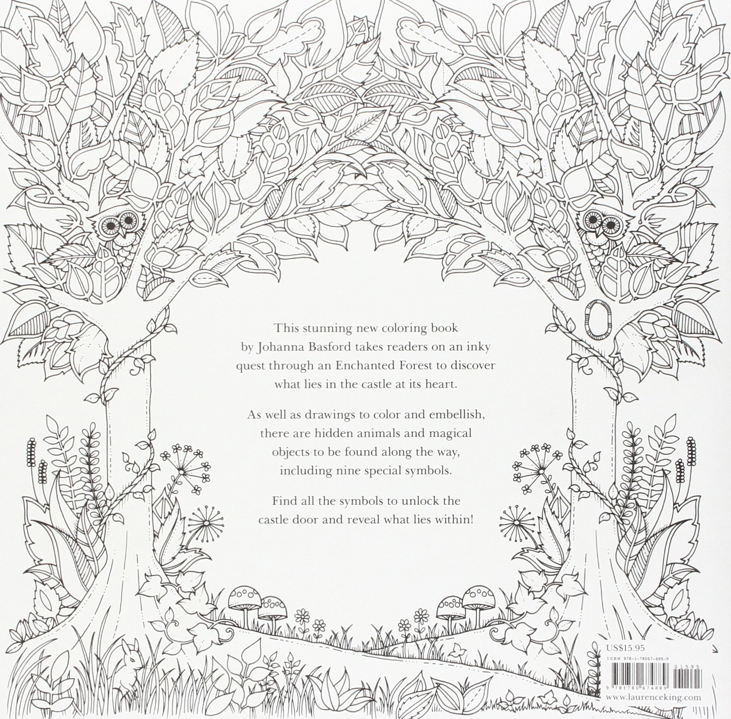 amazon com enchanted forest an inky quest u0026 coloring book