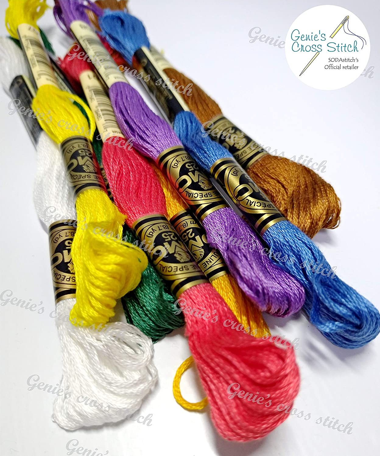DMC Hilo de Algodón Trenzado Color 3362 para el bordado /& Cross Stitch