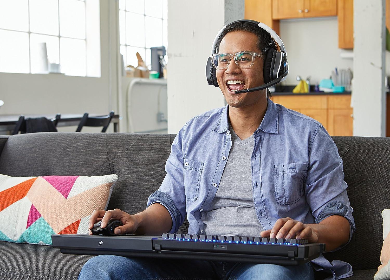 Corsair Lapboard Gaming sans Fil Pr/évu pour le Clavier Noir Corsair Clavier M/écanique Gaming sans fil Cherry MX Red, R/étro-/Éclairage LED Bleu, AZERTY