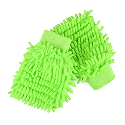 Car Care Essentials Microfiber Chenille Wash Mitt 2 Pack | Dust, Wash, and Buff with No Lint and No Scratching: Automotive
