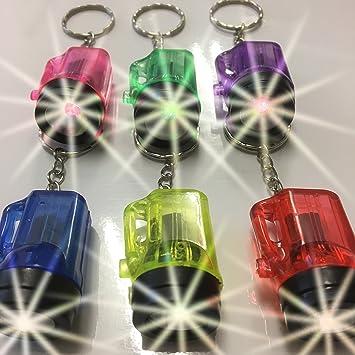 Kindergeburtstag 8 x LED Taschenlampe Mitgebsel 7 cm als Schlüsselanhänger