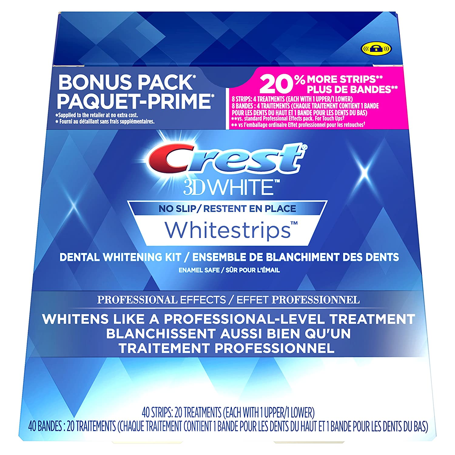 Crest 3D White Whitestrips Professional Effects Treatments, 20 Count Procter and Gamble