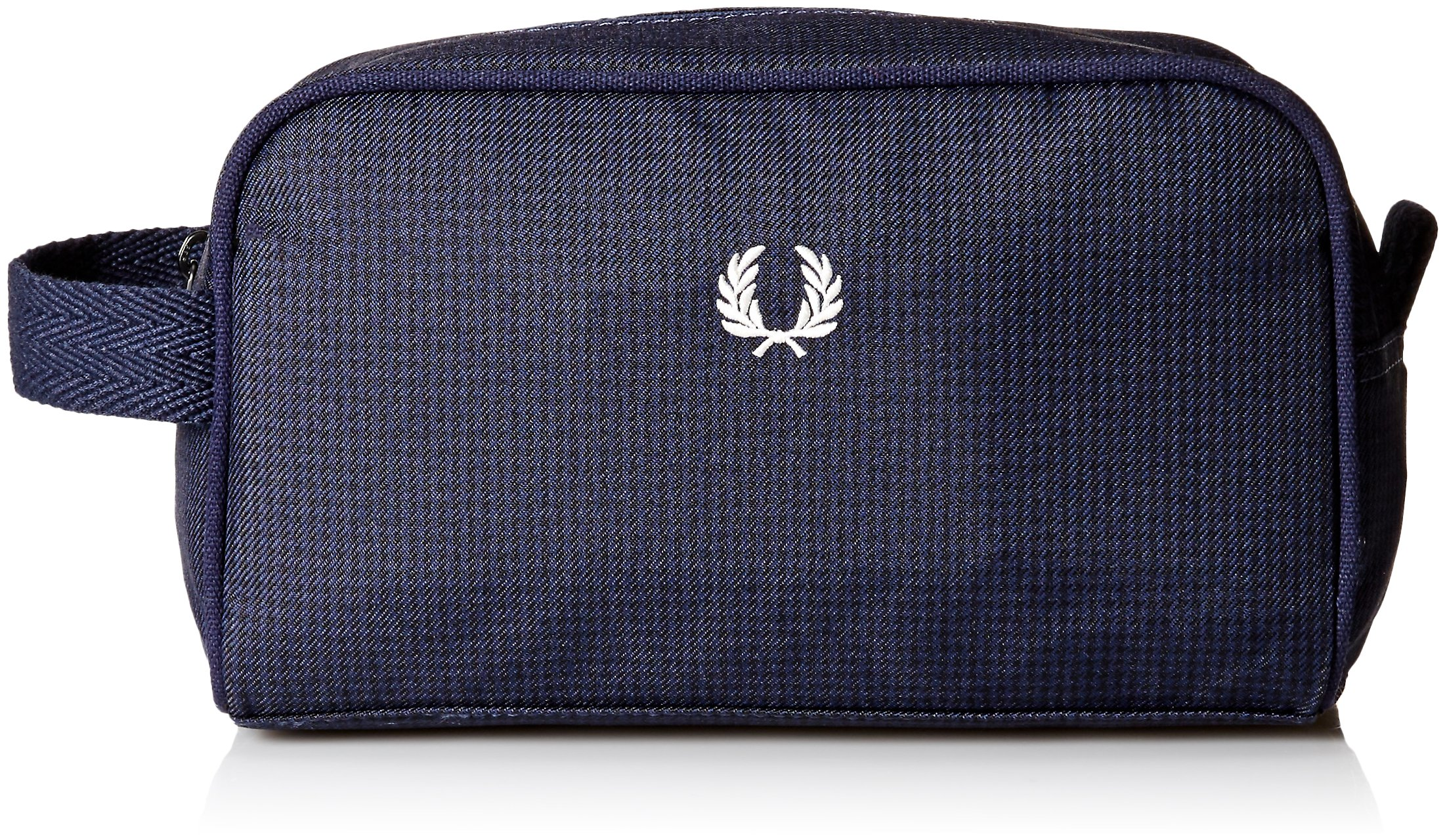Fred Perry Men's Checked Twill Travel Kit Bag, navy