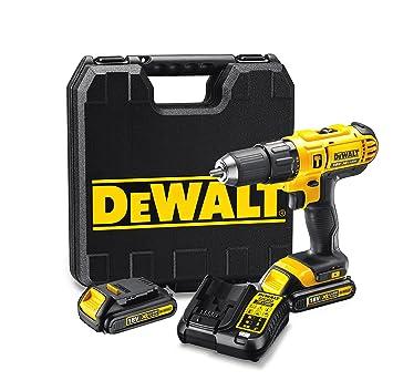 Dewalt DCD776C3-QW Taladro percutor XR 18V 13 mm 42Nm con 3 baterías Li-Ion 1, 18 W, Negro y Amarillo