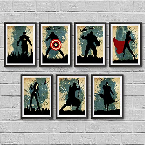 The Avengers Minimalist Poster Set 7 Marvel Superheroes Movie Print Captain America Iron Man Thor Previous Page