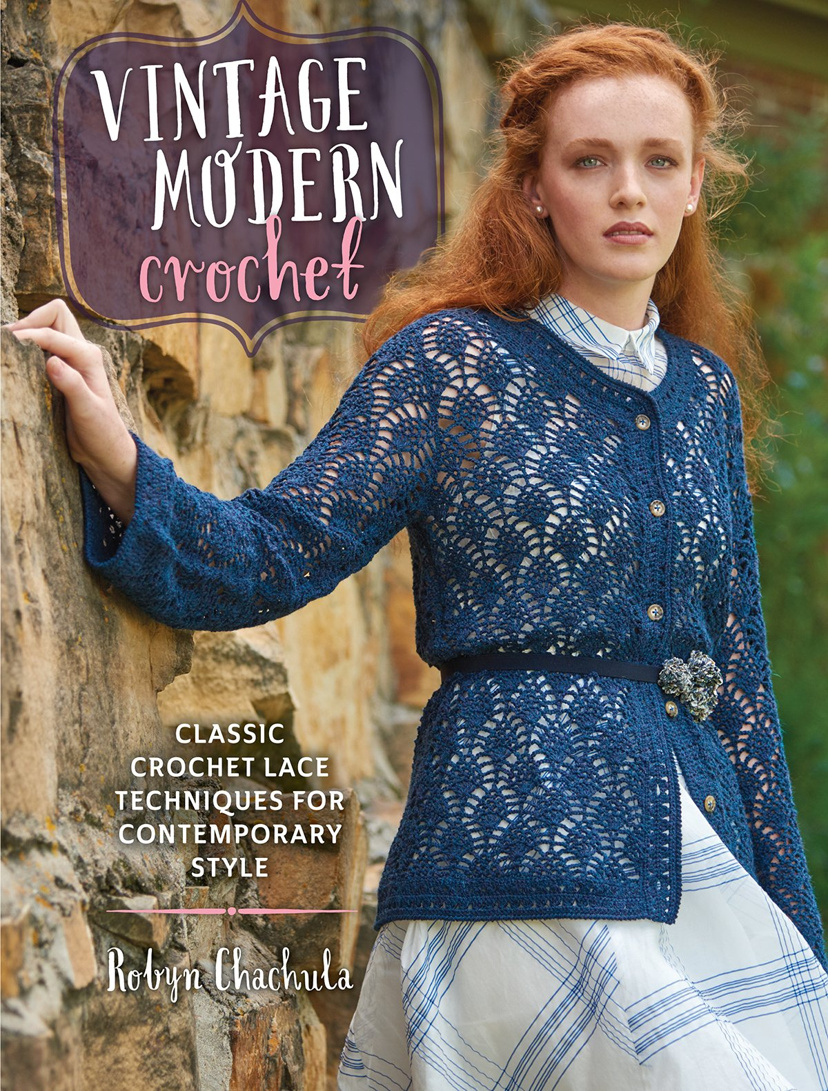 Free Crochet Paperback Book Cover Pattern ~ Vintage modern crochet classic crochet lace techniques for