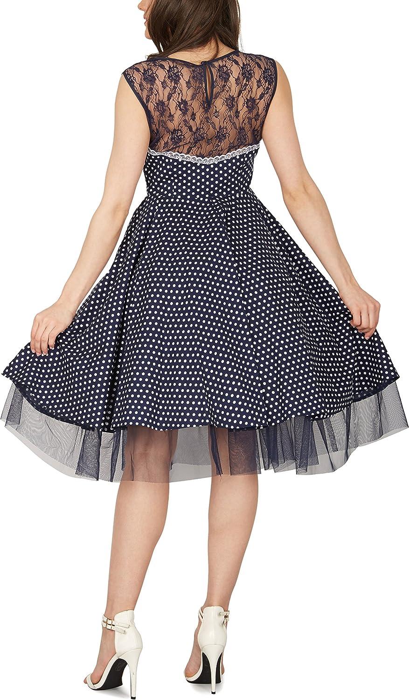BlackButterfly Vivien Vintage Polka Dot 50s Dress