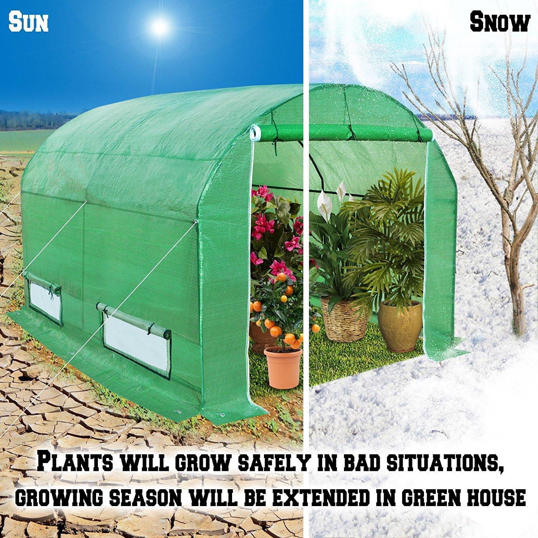 BenefitUSA Large Walk In Outdoor Plant Gardening Greenhouse (10'x7'x6') by BenefitUSA