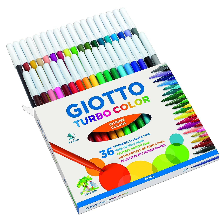 Giotto Turbo Color pennarelli in astuccio da 36 colori 4180 00 418000