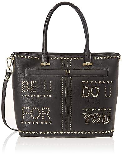 c00c7ca02b Trussardi Jeans , sac bandoulière femme - Noir - Noir, 34x30x13 cm (W x
